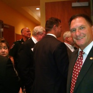 Larry Ahern awaits his cue at Pinellas County Republican Executive…