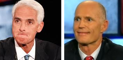 Charlie Crist leads Rick Scott 45% to 43% in first post-primary poll