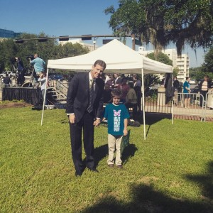 Senate Prez Andy Gardiner and his son at Lauren's Walk…