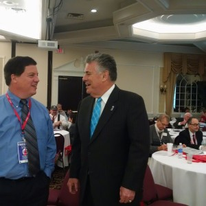 New York Congressman Peter King with attendee at #FITN GOP…