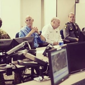 Gov Scott Briefed on Remnants of Erika in Naples